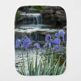 Irises At Chateau Burp Cloth
