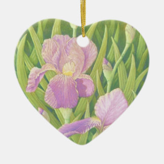 Irises at Wisley Gardens in Pastel Mothers Day Ceramic Ornament