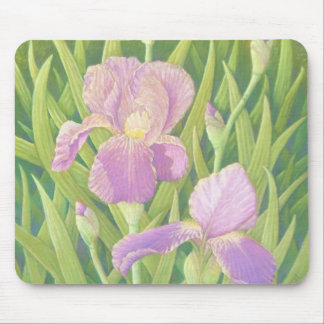 Irises at Wisley Gardens, Surrey in Pastel Mouse Pad