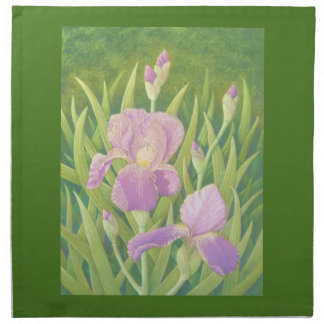 Irises at Wisley Gardens, Surrey in Pastel Napkin