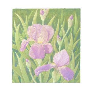 Irises at Wisley Gardens, Surrey Pastel Notepad