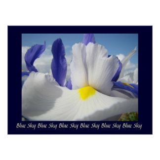 Irises Blue Sky art print Healing Touch Nursing