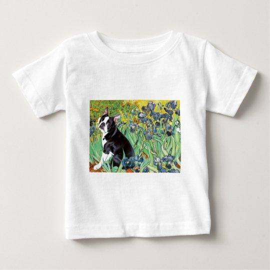 Irises - Boston Terrier #4 Baby T-Shirt