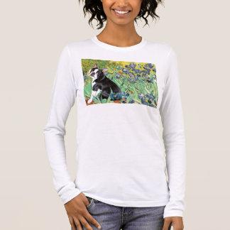 Irises - Boston Terrier #4 Long Sleeve T-Shirt