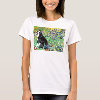 Irises - Boston Terrier #4 T-Shirt
