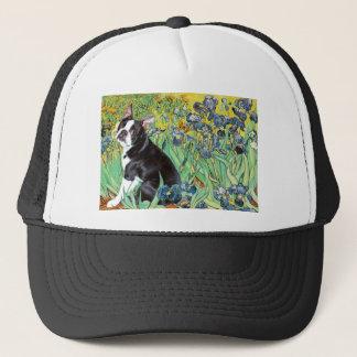 Irises - Boston Terrier #4 Trucker Hat