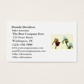Irises Business Card