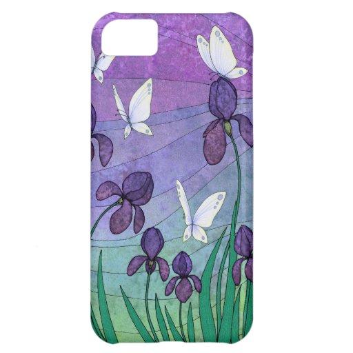 """irises & butterflies"" iphone 5 case"