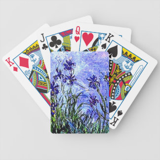 Irises by Claude Monet Bicycle Playing Cards