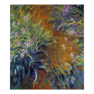 Irises by Claude Monet Poster