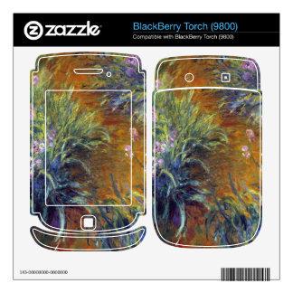 Irises by Claude Monet BlackBerry Skin