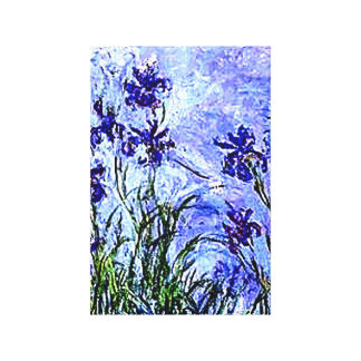 Irises by Claude Monet Wrapped Canvas
