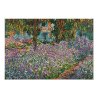 Irises by Monet Poster