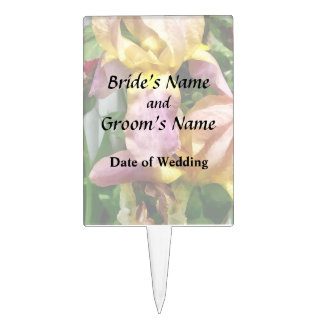 Irises By Picket Fence Cake Topper
