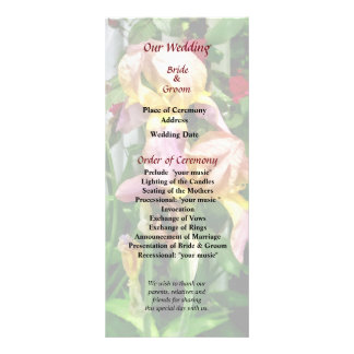 Irises By Picket Fence Wedding Program