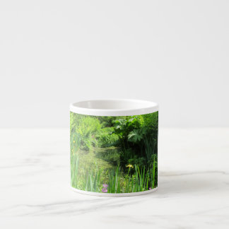 Irises by Pond, Richmond Park Espresso Mug