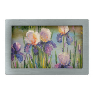 Irises by the river belt buckle