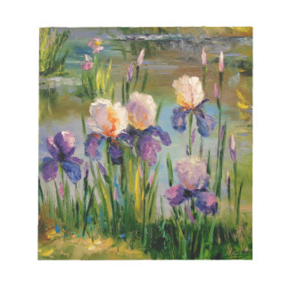 Irises by the river notepad