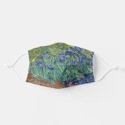 fine art Irises by Van Gogh Art artist Painting Face Mask