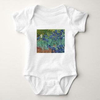 Irises by Van Gogh Baby Bodysuit