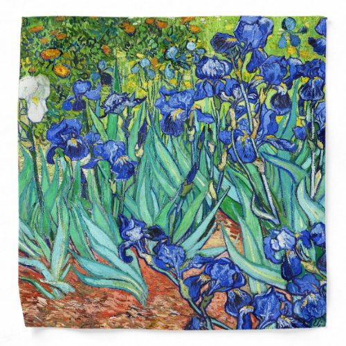 Irises By Van Gogh Bandana
