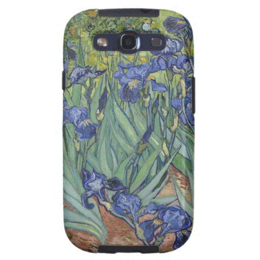 Irises by Van Gogh Blue Iris flowers Samsung Galaxy SIII Covers