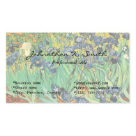 Irises by Van Gogh Business Card Template