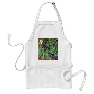 Irises by Van Gogh Fine Art Adult Apron