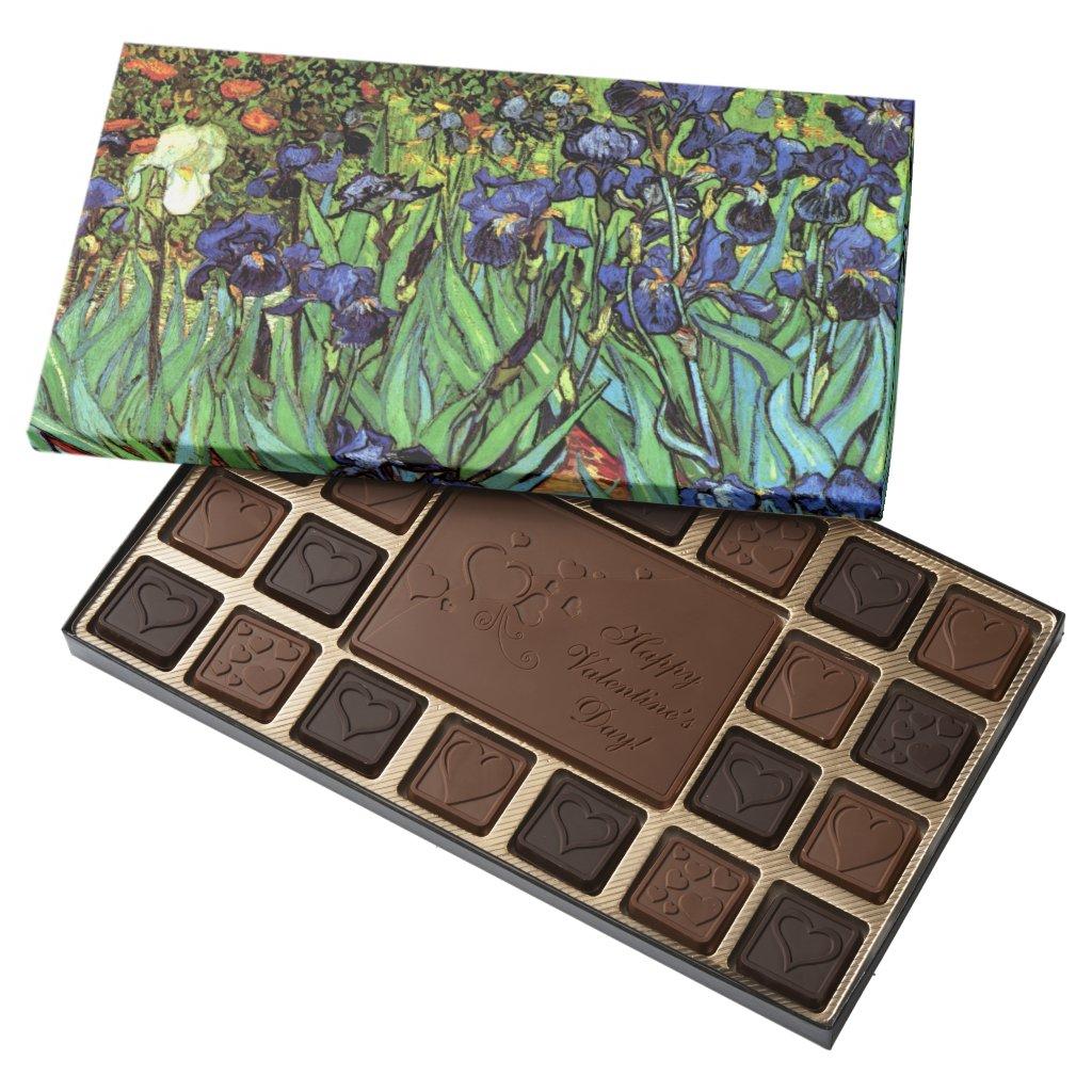 Irises by Van Gogh Fine Art Assorted Chocolates