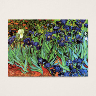 Irises by Van Gogh Fine Art Chubby Business Card