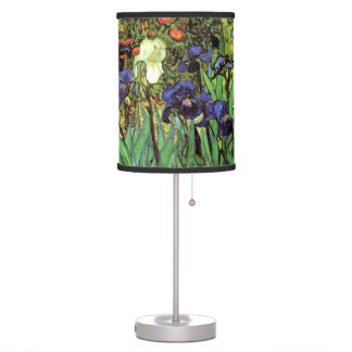 Irises by Van Gogh Fine Art Lamp
