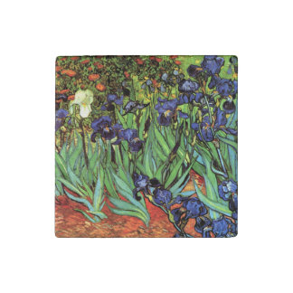 Irises by Van Gogh Fine Art Marble & Stone Magnets Stone Magnet