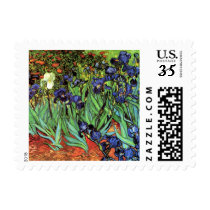 Irises by Van Gogh Fine Art Postage Stamp