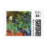 Irises by Van Gogh Fine Art Postage Stamp