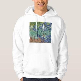 Irises by Van Gogh Hoodie