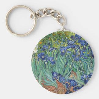 Irises by Van Gogh Keychain