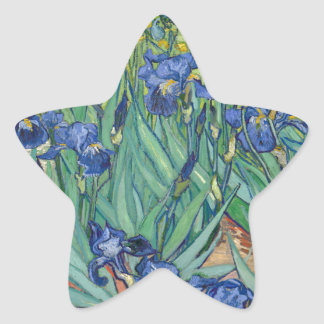 Irises by Van Gogh Star Sticker