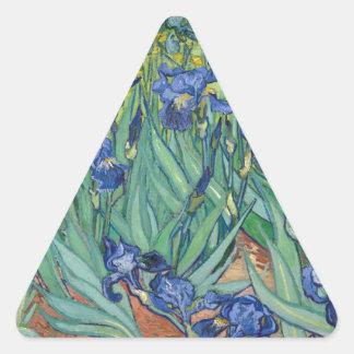 Irises by Van Gogh Triangle Sticker