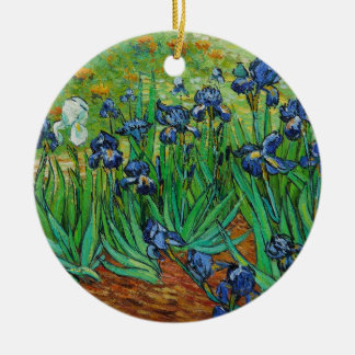 Irises by Vincent Van Gogh Ceramic Ornament