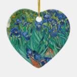 Irises by Vincent van Gogh Christmas Ornament