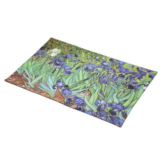 Irises by Vincent van Gogh Cloth Placemat