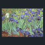 "Irises by Vincent van Gogh Cloth Placemat<br><div class=""desc"">A placemat with the oil painting Irises (1889) by Vincent van Gogh (1853-1890). Blue-violet iris in the garden,  which was influenced by Japanese art.</div>"
