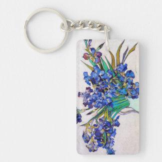 Irises by Vincent Van Gogh Double-Sided Rectangular Acrylic Keychain