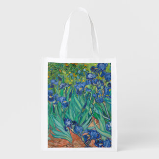 Irises by Vincent van Gogh Grocery Bag