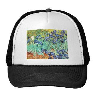 Irises by Vincent Van Gogh Mesh Hat