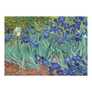 "Irises by Vincent Van Gogh 5"" X 7"" Invitation Card"