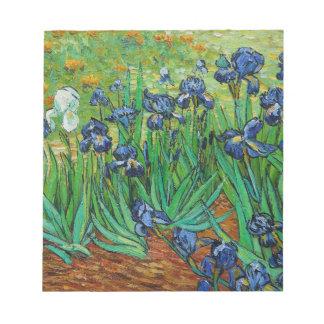 Irises by Vincent Van Gogh Notepad
