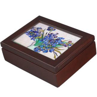 Irises by Vincent Van Gogh painting flowers Keepsake Box
