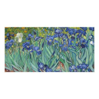 Irises by Vincent Van Gogh Customized Photo Card