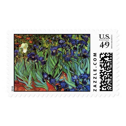 Irises by Vincent van Gogh Postage Stamp
